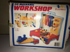 Rare ~ Vintage 1987 Playwell Kids 20+ pcs Workbench and Tools Toy