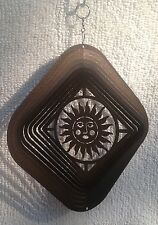New Plasma Cut Hanging Metal Decorative Sun Design Wind Spinner Free Shipping !