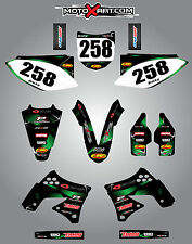 Kawasaki KXF 250 2009 - 2012 Full  Custom Graphic  Kit -BARBED STYLE stickers