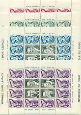 HOMMES DANS L'ESPACE - SHEPARD & GAGARIN TOGO 1962 sheetlets