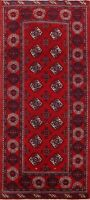 Traditional Bokhara Oriental Area Rug Geometric Hand-Knotted Wool Carpet 5x10