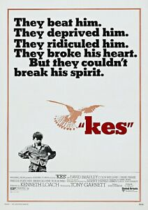 KES VINTAGE MOVIE POSTER FILM A4 A3 ART PRINT CINEMA KEN LOACH