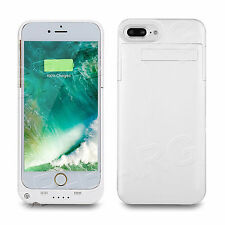 External Backup Battery Charger Pack Power Bank Case Cover For iPhone 7 - WHITE