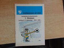 Denmark 1981 BK 1893 v AGF Aarhus