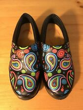 AKESSO MULTI COLORED LEATHER CLOG STYLE SLIP ON SHOES WOMENS 7.5M