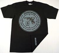STREETWISE STAY READY T-shirt Urban Streetwear Tee Adult L-4XL Black NWT
