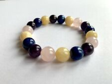 Healing Crystal Gemstone Bracelet - Anxiety, Stress Relief, Calmness, Happiness