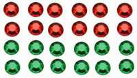 12 GREEN + 12 RED JEWELS for American Flyer K5 MARKER LIGHTS STEAM ENGINE Trains