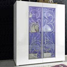 Mobile vetrina 2 ante sportelli moderno Padua serigrafia salotto soggiorno