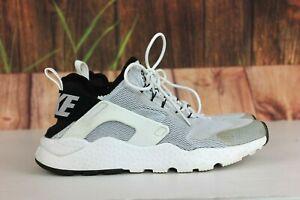 Nike Air Huarache Run Ultra Running Shoes White Black 819151-100 Women's Size 8