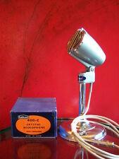 Vintage 1950's Calrad 400 C Crystal microphone w box Midland old Japanese Aiwa