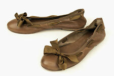 sundance / ITALY / LUXURY BALLET FLAT IN A SOFT TAN NAPA / 40 / SUPERB