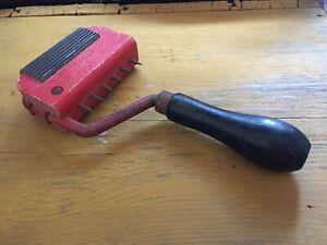 Vintage G W Mount Gooseneck Upholstery Webbing Stretcher Tool - Circa 1956