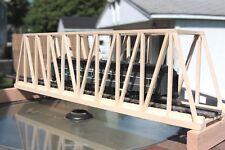 "O Gauge handmade wood thru truss bridge 30"" long for Lionel, K Line,MTH, Atlas"