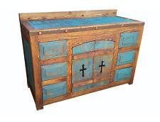 Rustic Distressed Turquoise Templar Crusaders Bathroom Vanity