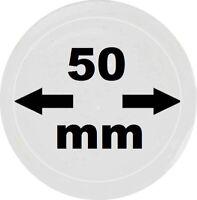 10 x LOOK Münzkapseln 50 mm Innendurchmesser - Aussen. 56 mm Glasklar mit Rand