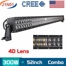 """4D+ 52INCH 300W CREE LED LIGHT BAR WORK LAMP S&F COMBO OFFROAD JEEP  PK 42"""" 240W"""