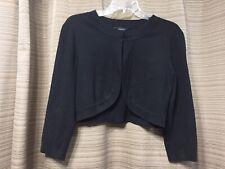 Spense Black Bolero Jacket Silk Blend Size Medium RN 73153