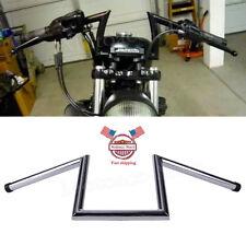 """8"""" Rise Narrow Z-Bars 1"""" Ape Hangers Handlebars For Harley Chopper Bobber Dyna"""