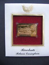 1996 Riverboats Rebecca Everingham Boats 22kt Gold GOLDEN replica Cover STAMP