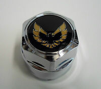77-81 FIREBIRD TA CHROME CENTER CAP GOLD BIRD TA SNOW FLAKE WHEEL TURBO ONE NEW