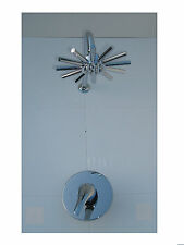 CONCEALED SHOWER MIXER TAP VALVE, STAR HEAD & ARM SET, ALL METAL & CHROME, 007