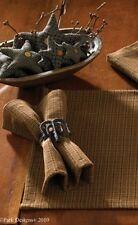 4 Pc Brown Plaid Napkins Set 18X18 Salt Box Collection By Park Designs
