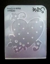 Sizzix Small Embossing Folder HEART & FLOWERS fits Cuttlebug, Big Shot & Wizard
