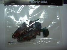 2 Gummifische Early Bird Forelle, 8cm, mit Befestigung für Angst drilling Köder