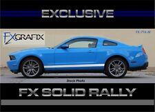2010 - 2012 Ford Mustang Solid Factory Style Rally Side Rocker Stripe Stripes
