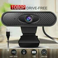 1080P USB 2.0 HD Auto Focusing Web Cam With Microphone PC Laptop Desktop Webcam