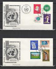 Nations Unies Genève 2 FDC tampon à date 1969 /B5Nf