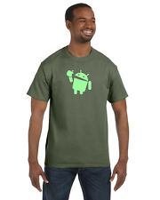 Android Eats Apple T-Shirt Nerd/Computer Geek Cell Phone S-5XL All Colors!