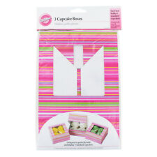 Wilton Cupcake Boxes, Striped, Holds Four Cupcakes, Pack of 3 - 415-948