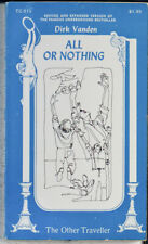All or Nothing Gay Erotica Sleaze Olympia 1st Ed by Dirk Vanden 1971 pulp