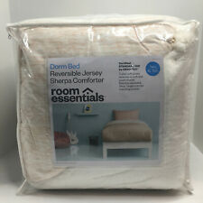 Room Essentials Dorm Bed Reversible Jersey Sherpa Comforter - Blush Peach - Size
