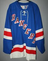 NEW YORK RANGERS USA NHL ICE HOCKEY JERSEY SHIRT CCM BLUE SIZE XL