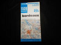 carte  IGN bleue 1536 ouest bordeaux 1984