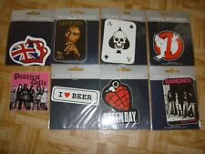 lot 8 stickers rock (stones ramones pussycat green day marley ghost buster)