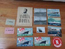 Vintage Lot ANDREA DORIA Booklet BROCHURES Photo postcards luggage tag sticker