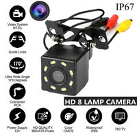 Waterproof 170°HD Car Rear View Camera 8 LED Night Vision Back-up Dash Cam