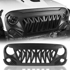 Gladiator Matte Black ABS Grille Grill Cover for Jeep Wrangler JK/JKU 2007-2018