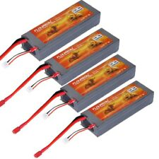 4x FLOUREON 7.4V 5200mAh 2S 30C Lipo RC Battery Pack With Hard Case Deans Plug