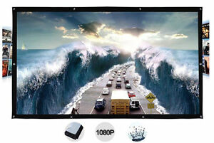 200-300 Inches Wall Mount Outdoor Movie Projector Screen Curtain Film