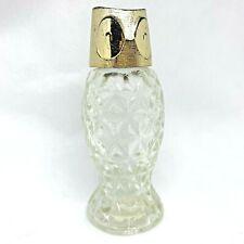 Vintage Glass Avon Owl Miniature Tasha Cologne Perfume Bottle Empty Fancy 3.5in