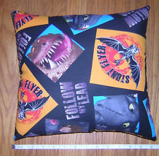 New * How To Train Your Dragon 2 * Cotton Fabric Pillow   Handmade in the U.S.A.
