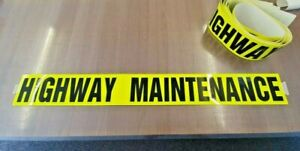 Highway Maintenance Sticker - Flourecent self adhesive van sign 1000mm X 120mm