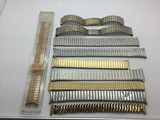 Vintage Lot Of 10 Speidel Yellow White Gold Filled Stainless Watch Band Bracelet