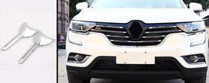 For Renault Koleos 2017-2019 Exterior Front Fog Light Lamp Strip Cover Trim 2PCS