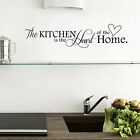 Removable Black Wall Sticker PVC Quote Kitchen+Home Mural Art DIY Decal Decor F